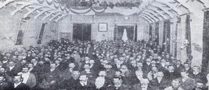 Asamblea de agricultores donde nació la Federación Agraria