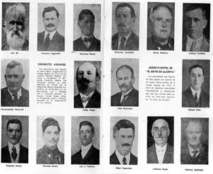 Dirigentes agrarios y sobrevivientes del Grito de Alcorta